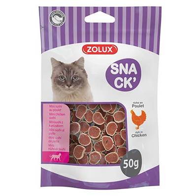 ZOLUX - Friandise Chat Mini Sushi Poulet - 50gr