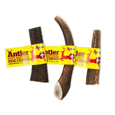 ANTOS ANTLER - Natural Dog Chew - Medium