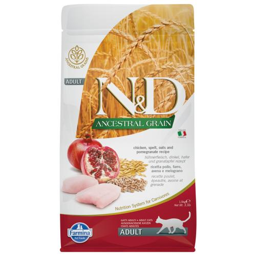 FARMINA N&D LG - Chicken & Pomegrenade Cat - 1,5kg