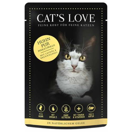 CAT'S LOVE - Gelée Classic Poulet Pur Chat Adulte - 85gr
