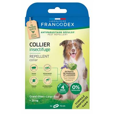 FRANCODEX - Collier Insectifuge Grand chien
