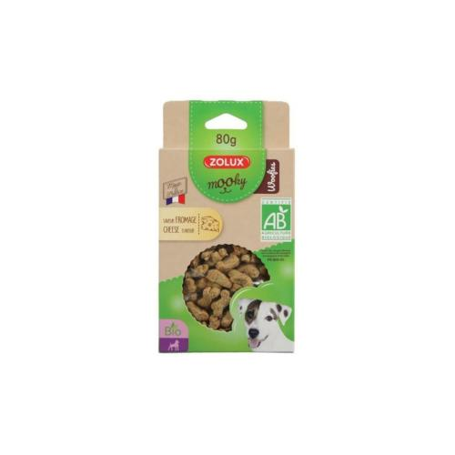 ZOLUX - Friandise Mooky BIO Woofies Fromage - 80gr