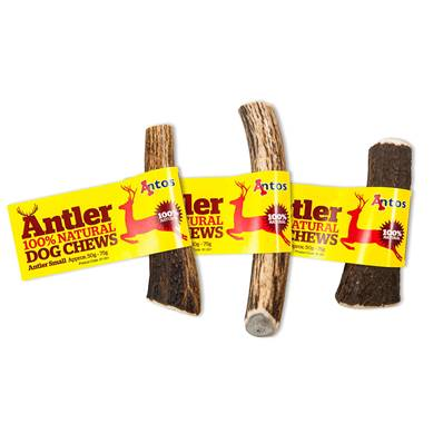 ANTOS ANTLER - Natural Dog Chew - Small