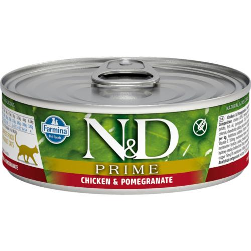FARMINA N&D - Boîte PRIME Poulet & Grenade Chat Adulte - 80gr