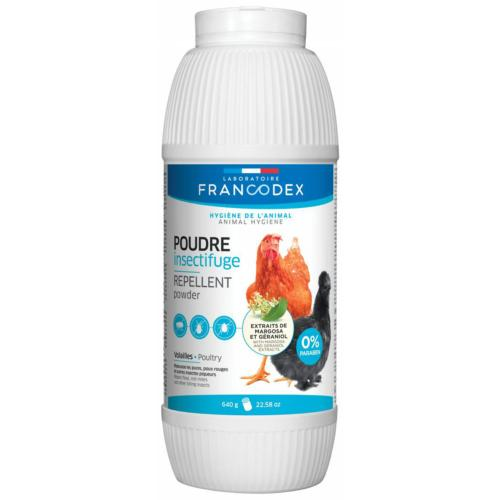 FRANCODEX - Poudre Insectifuge volaille - 640gr