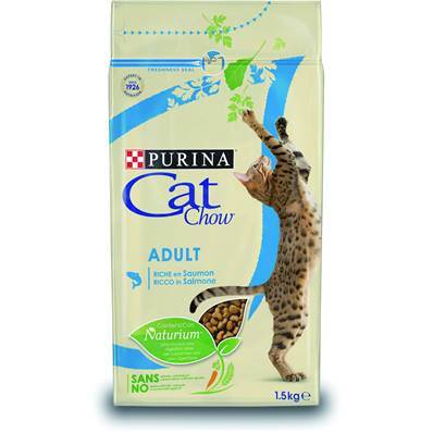 PURINA CAT CHOW - Croquette Thon & Saumon Chat Adulte - 1,5kg