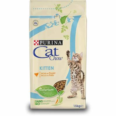 PURINA CAT CHOW - Croquette Poulet Chaton - 1,5kg