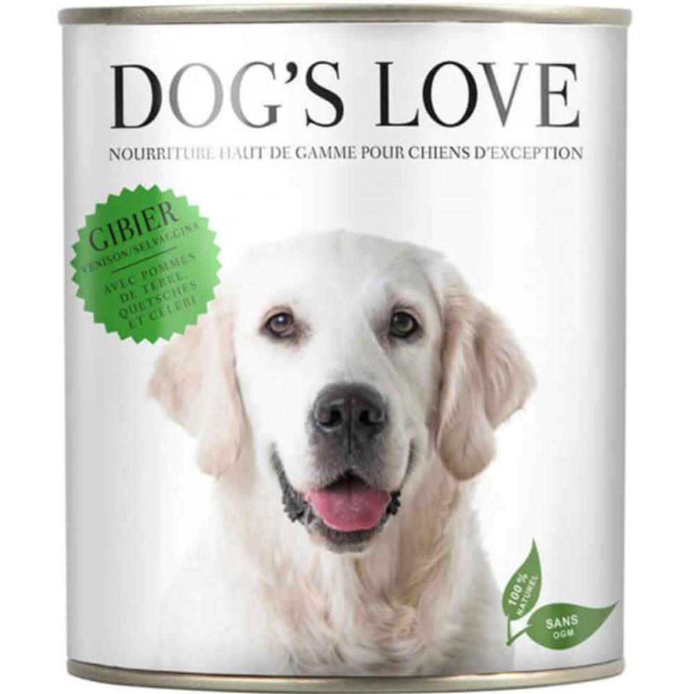 DOG'S LOVE - Boîte Classic Gibier Chien Adulte - 200gr