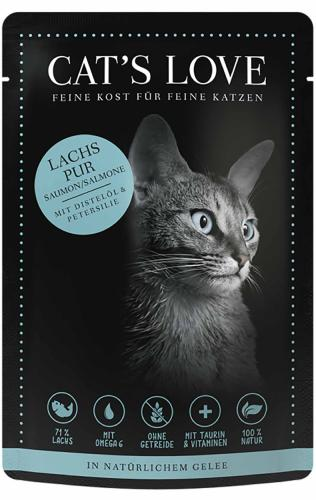 CAT'S LOVE - Gelée Classic Saumon Pur Chat Adulte - 85gr
