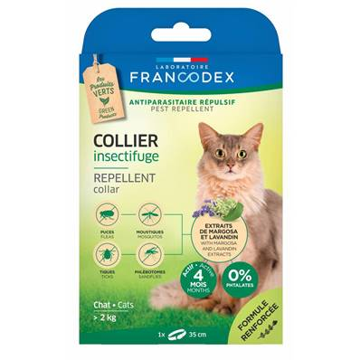 FRANCODEX - Collier Insectifuge Chat