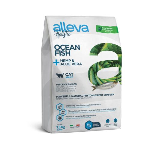 ALLEVA HOLISTIC - Croquette Poisson d'océans Chat Adulte - 1,5kg