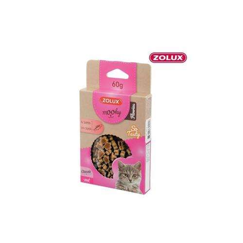 ZOLUX - Friandise Chat Mooky Flowies Saumon - 60gr