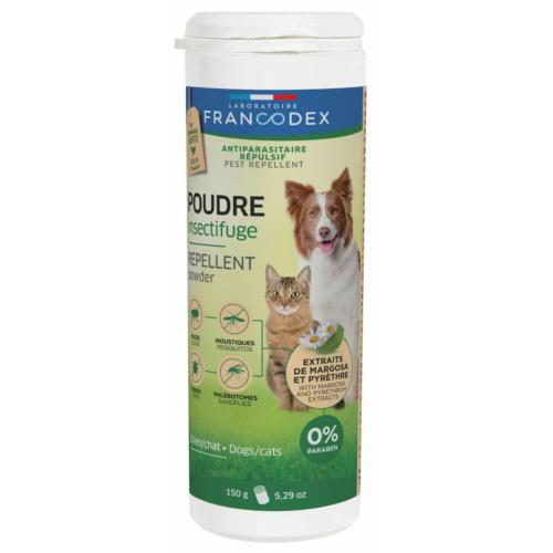 FRANCODEX - Poudre Insectifuge Chiens & Chats - 150gr